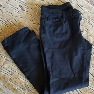 Ann Taylor seasonles skinny pants or dress slacks.